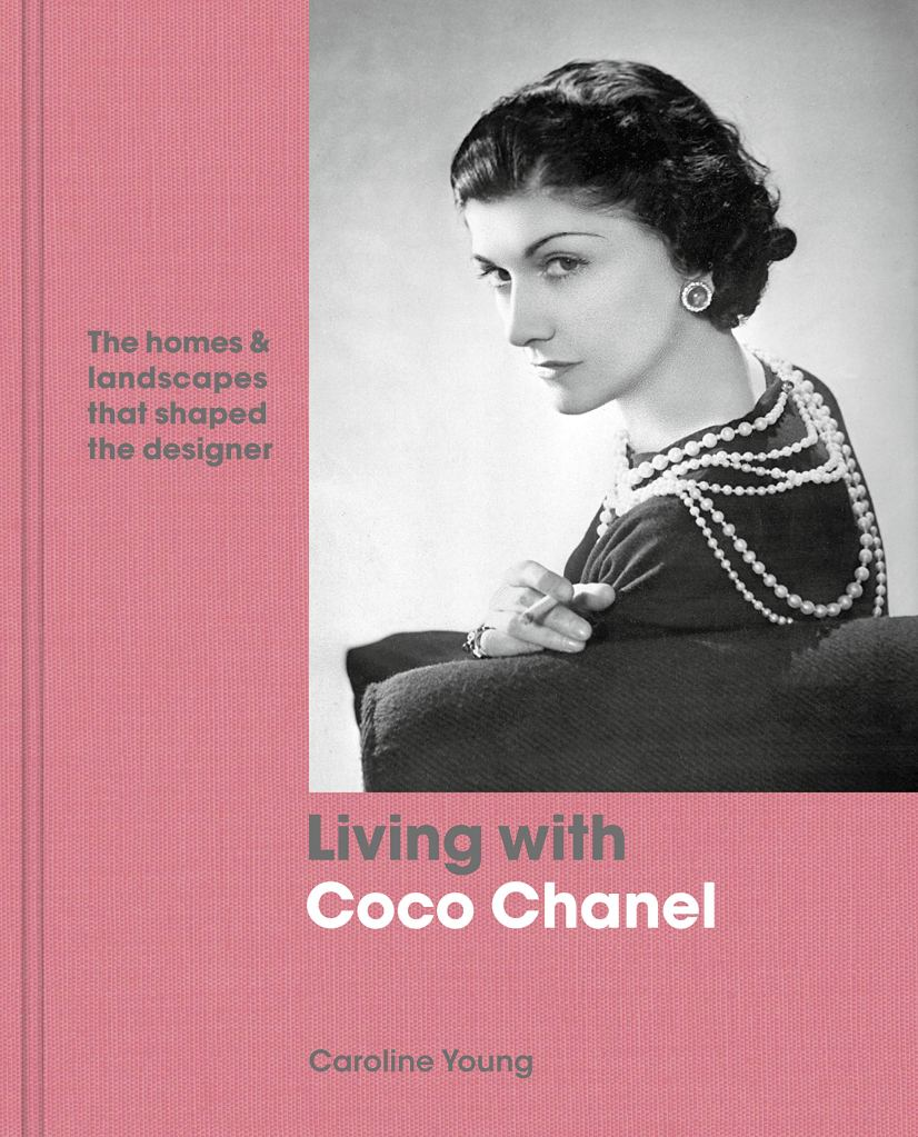 """Holiday gift idea for interior design enthusiasts who have a vintage inspired decor aesthetic: coffee table book """"Living with Coco Chanel: The homes and landscapes that shaped the designer"""""""